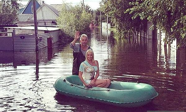 Анастасія Волочкова виклала фото з місця повені