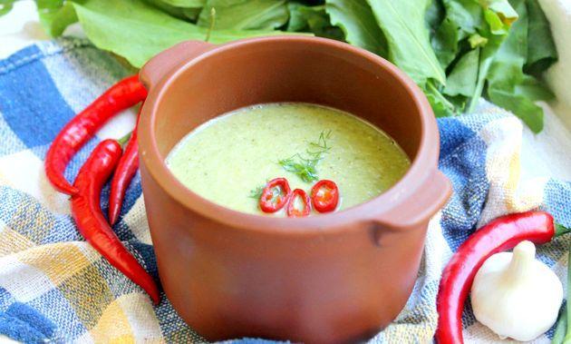 Дієтичний суп пюре з брокколі та філе індички