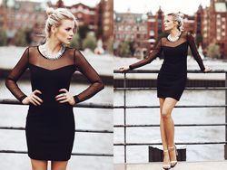Доповнюємо чорне плаття аксесуарами