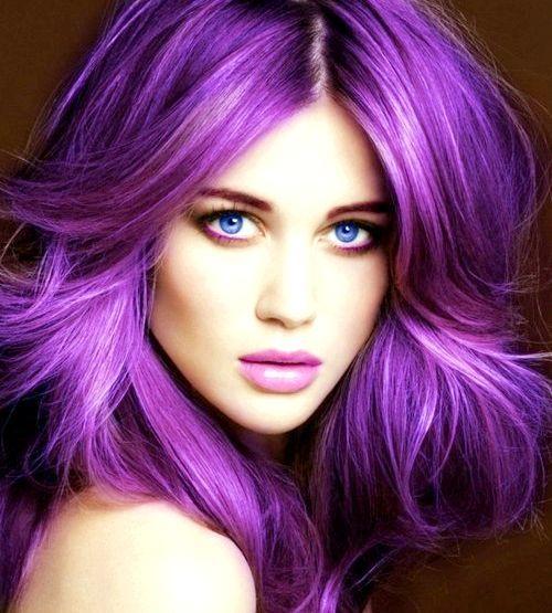 Фіолетовий колір волосся: як вибрати відтінок і пофарбувати пасма