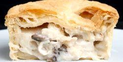Пиріг з начинкою з глив і картоплі