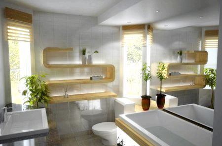 дизайн ванної кімнати в стилі модерн