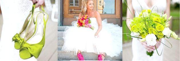 Яскрава весільне взуття - це супермодно!