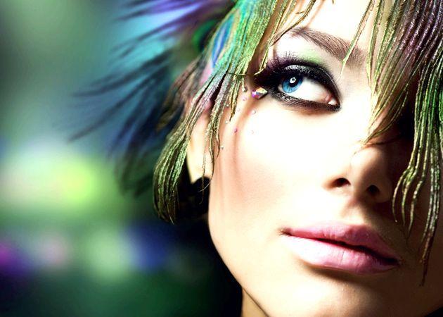 Яскравий літній макіяж - покрокова техніка з фото
