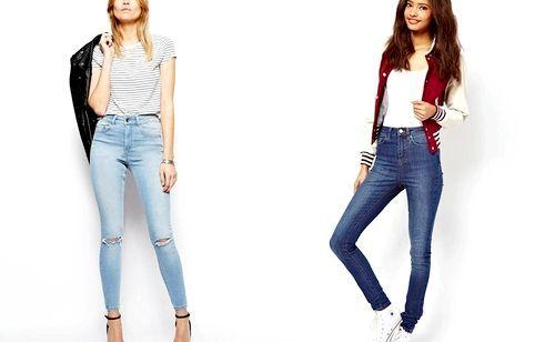 Як носити джинси і брюки з високою талією
