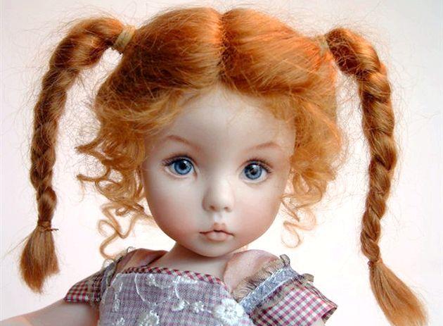 Як пофарбувати волосся ляльці