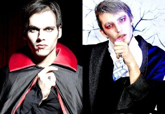 Як зробити парні костюми вампіра, вампірші на хеллоуїн, фото
