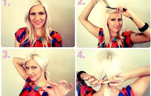 Як зробити зачіску-пучок своїми руками - покрокові фото