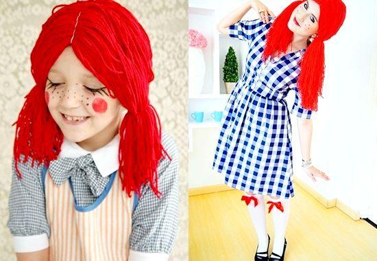 Як зробити прикольний костюм ляльки на хеллоуїн своїми руками, фото