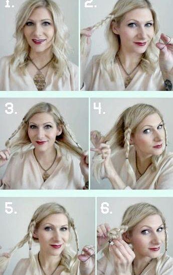 Як зробити вечірню зачіску з косами своїми руками - фото майстер-клас