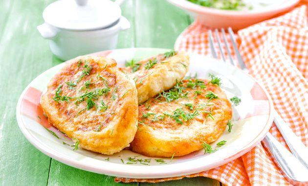 Картопляні зрази з грибами та сиром