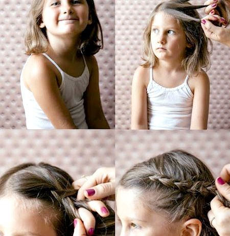 Красиві і прості зачіски для дівчинки на Новий рік 2015 c фото