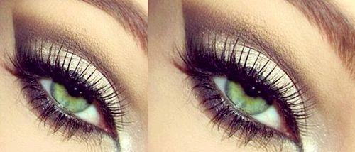 Гарний вечірній макіяж для зелених очей