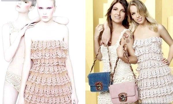 літні в'язані сукні фото білі в'язані сукні