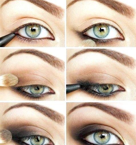 Макіяж для зелених очей, як зробити поетапно, фото і відео