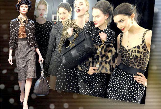 Модний жіночий одяг в горошок сезону осінь-зима 2011/2012