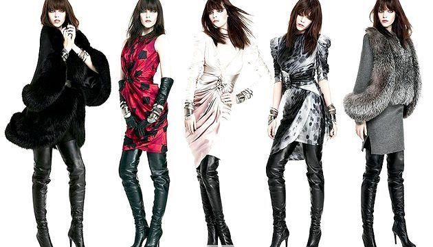 Модні ботфорти - з чим носити ботфорти (зима 2012)