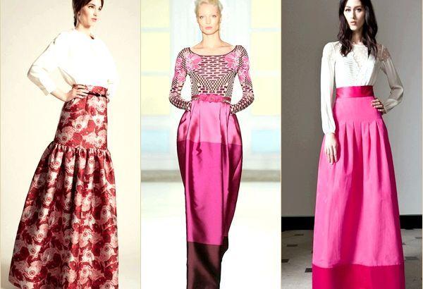 Модні довгі спідниці 2014, фото кращих моделей