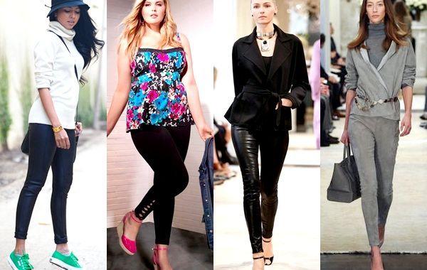 Модні легінси 2014 - фото, з чим носити
