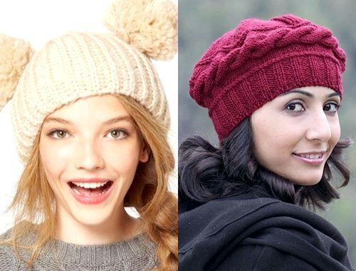 Модні в'язані шапки зима 2014, фото