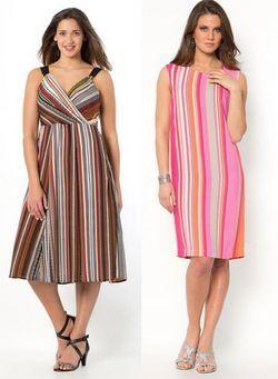 Наймодніші сукні для повних жінок