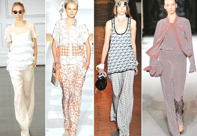 Одяг в піжамному стилі - модний тренд літнього сезону 2012