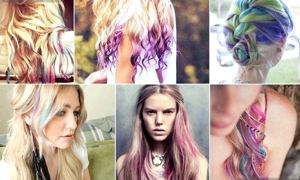 Фарбування волосся за допомогою кольорової крейди (фото)