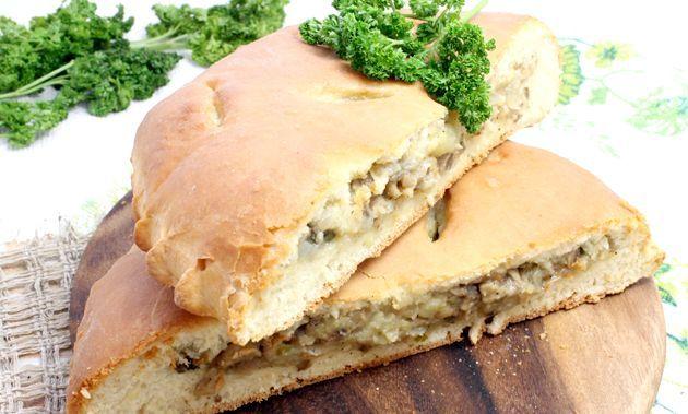 Пиріг з картоплею та грибами