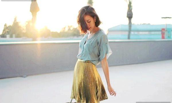 Плісирована спідниця: фото модних образів
