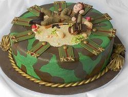 Святковий торт на 23 лютого, рецепт з фото
