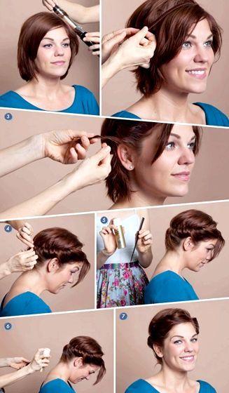 Прості укладання на коротке волосся навесні-влітку 2014