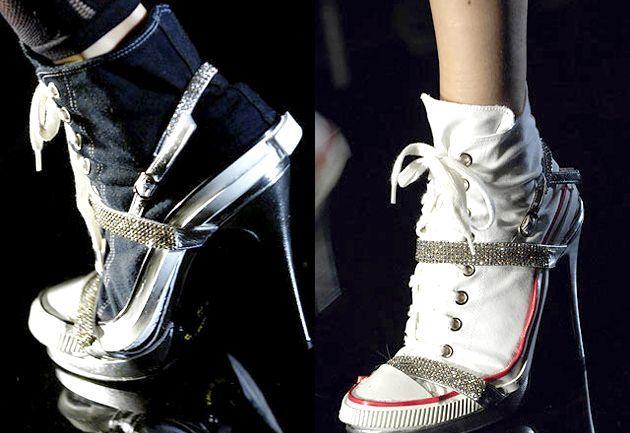 З чим носити кеди на каблуках