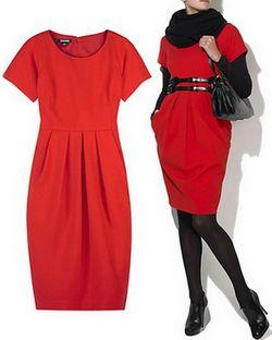 З чим варто носити червону сукню
