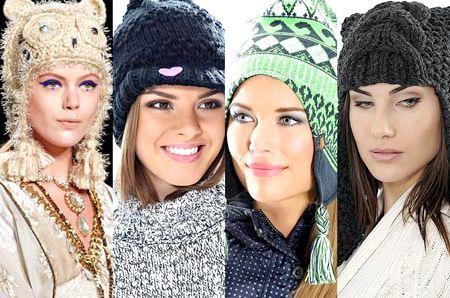Наймодніші зимові шапки для жінок 2014-2015, красиві фото