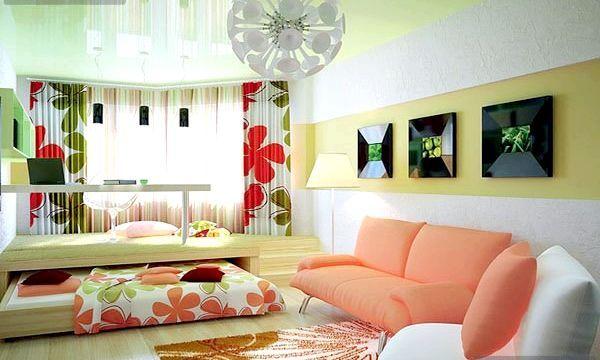 Спальня-вітальня в одній кімнаті (фото)