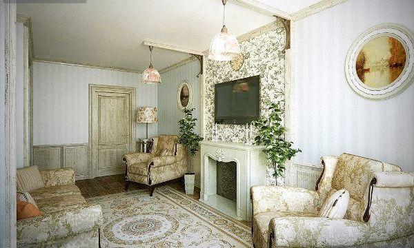 Стиль прованс у вітальні (фото)