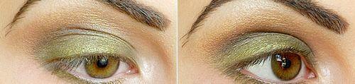 Стильний макіяж для каре зелених очей в 2014 році