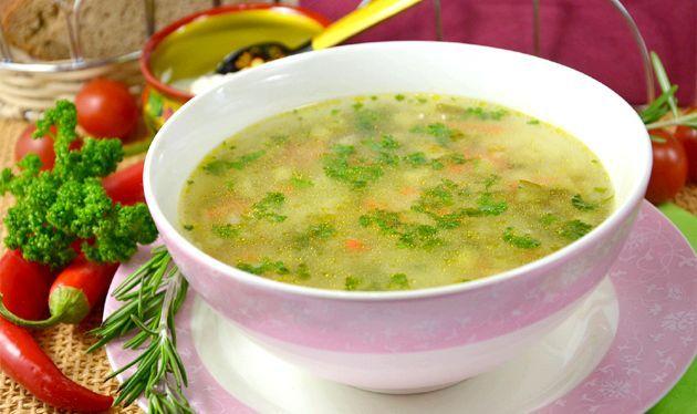 Суп розсольник на м'ясному бульйоні