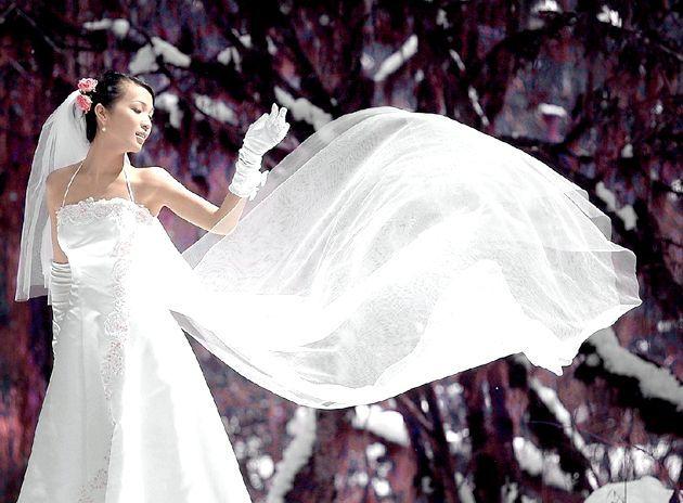 Весільна мода. Зимовий наряд нареченої