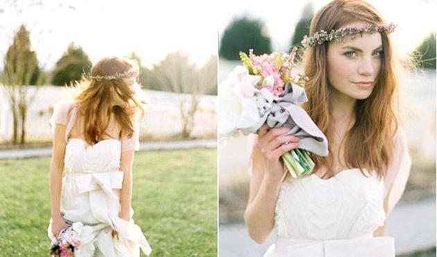 Весільний (барвінковій) вінок для нареченої