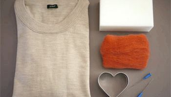 Валяння: красиві заплатки на лікті у вигляді сердечок
