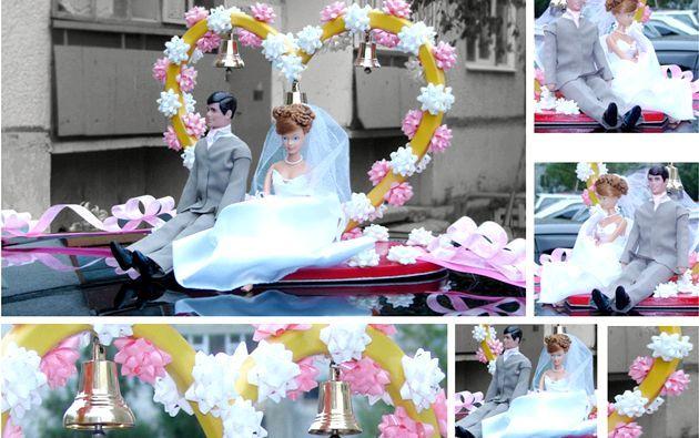 Варіанти прикрас для весільного автомобіля