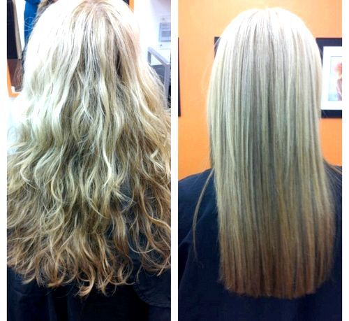 Волосся после кератинового віпрямлення
