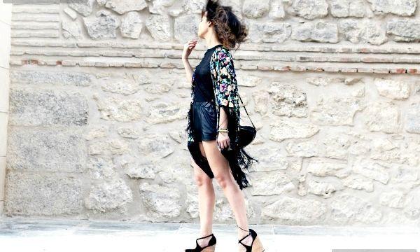 Жакет-кімоно: фото модних образів